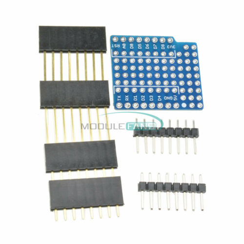 WeMos D1 Mini Double Sided Proto Shield perf Board For Arduino