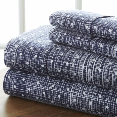 Hotel Collection 4 Piece Polka Dot Printed Sheet Set Premium Ultra Soft