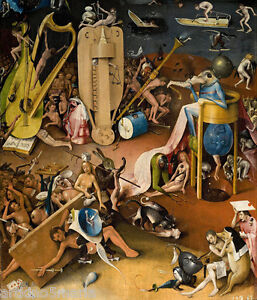 Hieronymus Bosch The Prince Of Hell Baroque Giclee Print Fine Canvas