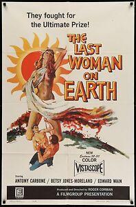 LAST WOMAN ON EARTH Movie Poster 27x41 • #MoviePoster #Exploitation #RogerCorman
