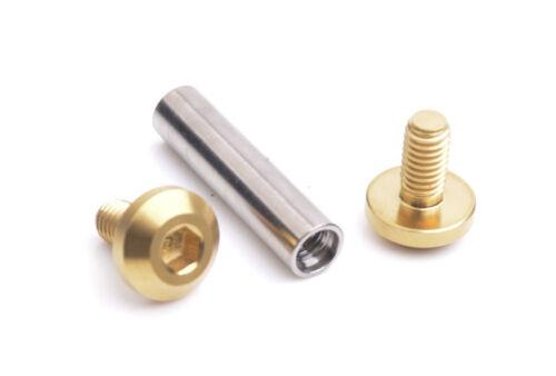 Titanium JP8//JXP//FA073 Fasteners Rear Shock Absorbers Nuts Flange Bolts 1x set