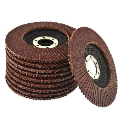 "115mm Flat Sanding Grinding AU014 10 x Flap Discs 80 Grit Angle Grinder 4.5/"""