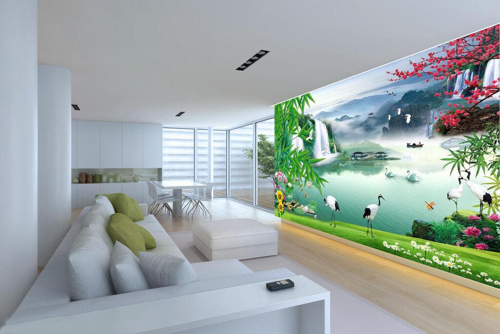 3D Scenery Tree Lake 8 Wallpaper Mural Wall Print Wall Wallpaper Murals US Carly