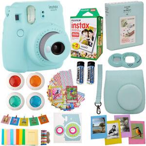 Fujifilm-Instax-Mini-9-Instant-Camera-Ice-Blue-20-Sheet-Film-Deluxe-Acc-Bundle