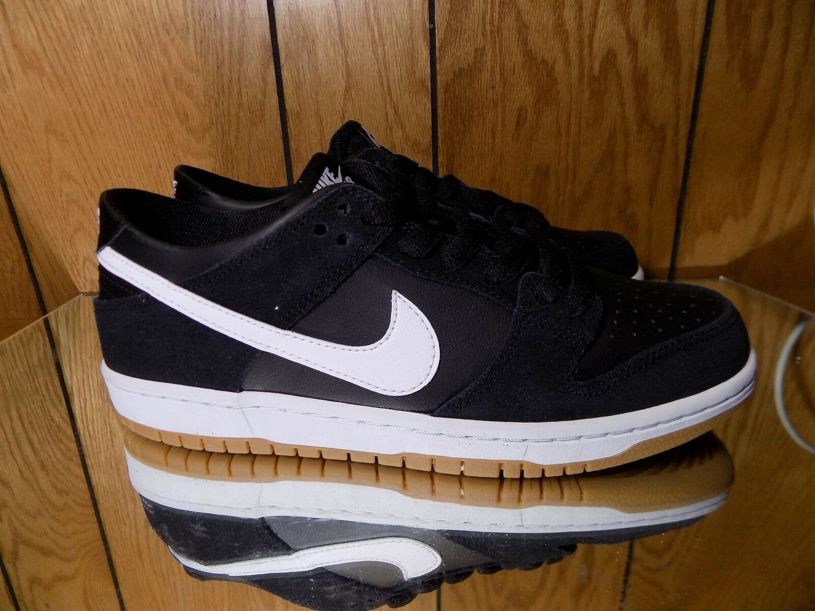 Nike SB Dunk Low Pro in Black/White/Gum Light Brown NWT 854866-019 s. 10.5 Wild casual shoes
