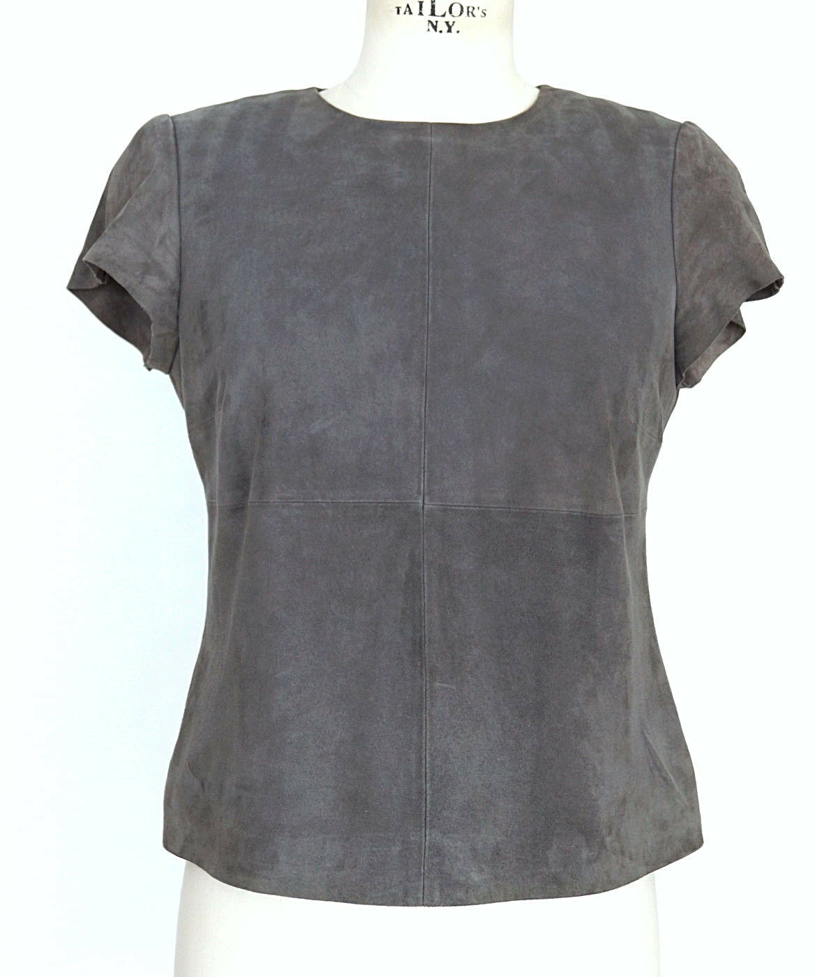 Worth Top Charcoal Suede sleek versatile 4
