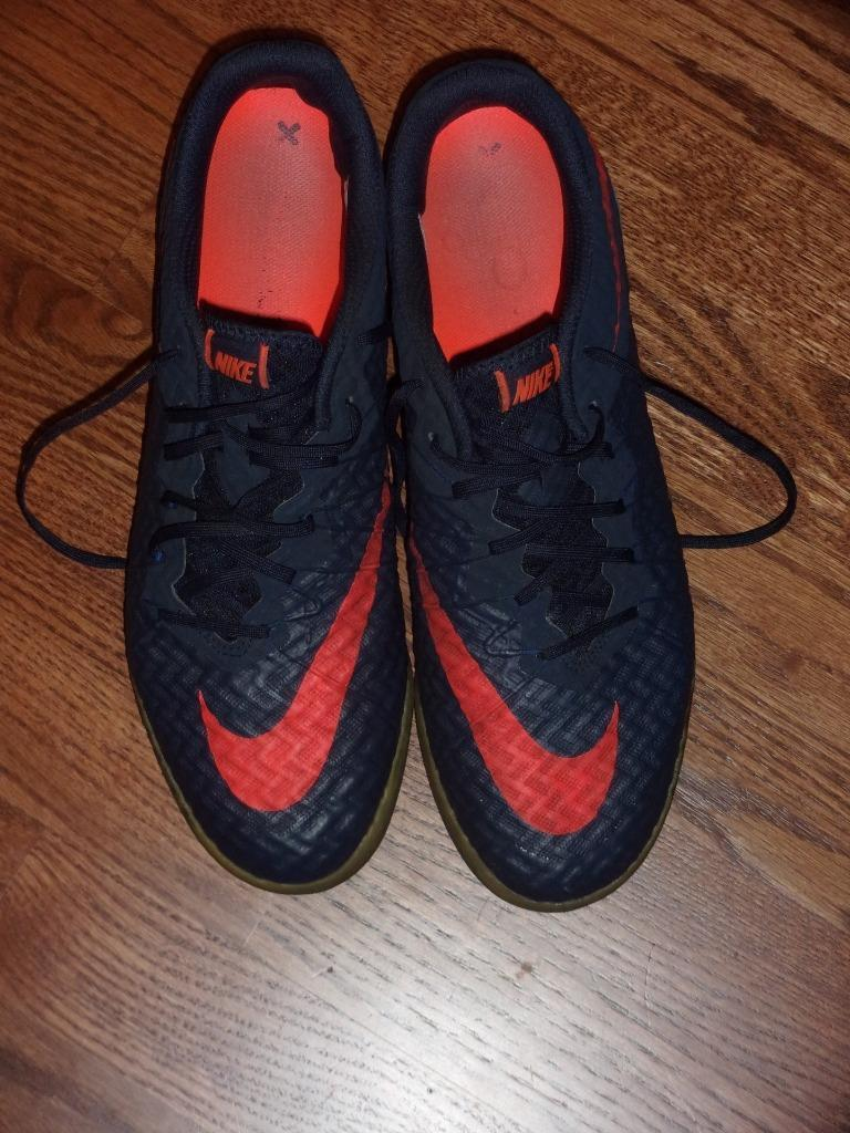 NIKE HYPERVENOM X FINALE IC Soccer shoes 749887-484 bluee & Red Size 10 Ex Cond