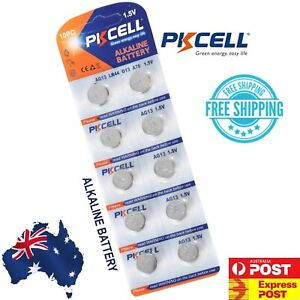 PKCELL AG13 A76 LR44 Button Cell Battery 10 Pieces