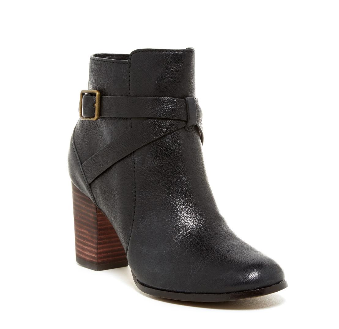 Cole Heel Zip Side High Knee Leather nero B 8.5 Dimensione