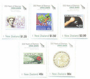 New Zealand-150 Years Of Nz Stamps Mnh Set (2791-5)