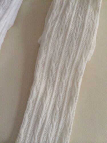1-8yrs NEW Kids Girls School Cotton Knit Sock Tights white ivory khaki black