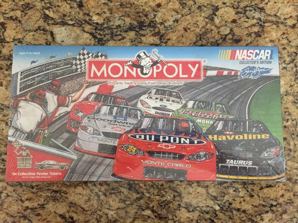 Monopoly Nascar Collector's Edition Family Board Game New Factory Sealed