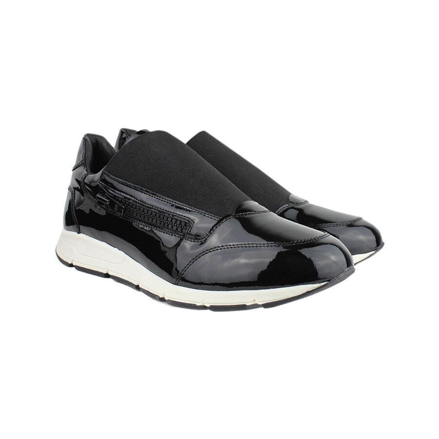 Joshua Sanders nera pelle verniciata con zip zip zip laterale scarpe da ginnastica IT41 UK7 | Forte valore  | Uomini/Donne Scarpa  0104f2