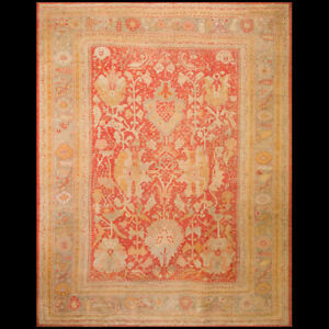 Antique Oushak Rug 12 X 15 6 Ebay
