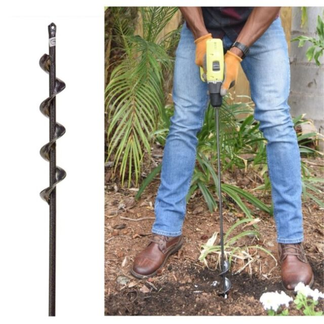 "Yard Butler Roto Digger 9/"" Planter Garden Auger Hole Drill Bit Butler Bulb Post"