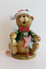 519-105h1401 Hubrig Räuchermann Teddy-Weihnachtsklaus