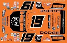 #19 Jeremy Mayfield Hemi Dodge 2004 1/43rd Scale Slot Car Waterslide Decals