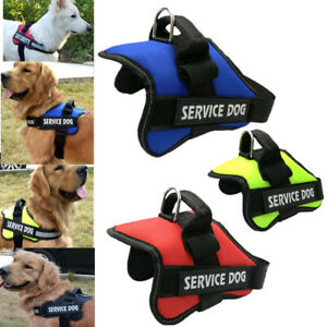 Adjustable-Service-Dog-Vest-Harness-Patches-Reflective-Small-Large-Medium-S-XXL