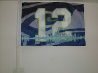 12th Man Seattle Seahawks Car Flag 12x18 Very Durable -hi-way Strong
