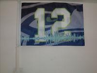 12th Man Seattle Seahawks Car Flag 12x18 Very Durable -hi-way Strong