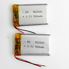 2pcs 500mAh 3.7V Lipo Polymer Battery cells For mp3 MID DVD GPS bluetooth 502540