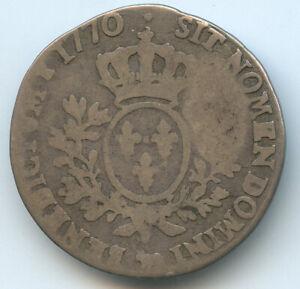 Louis XV (1715-1774) 1/5 Écu of Béarn IN The Band 1770 Pau