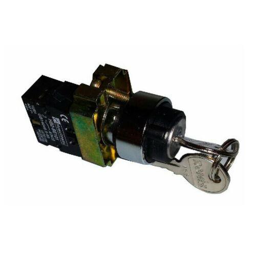 Extracción en una posición Selector metálico de llave dos posiciones fijas