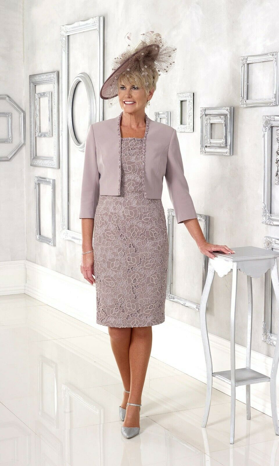 Veromia Dress Code mother of the bride outfit DC104 the colour is mink as shown