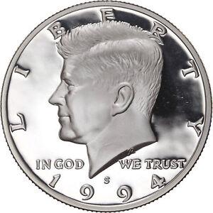 1994-S Kennedy Half Dollar Coin Gem Proof Deep Cameo U.S