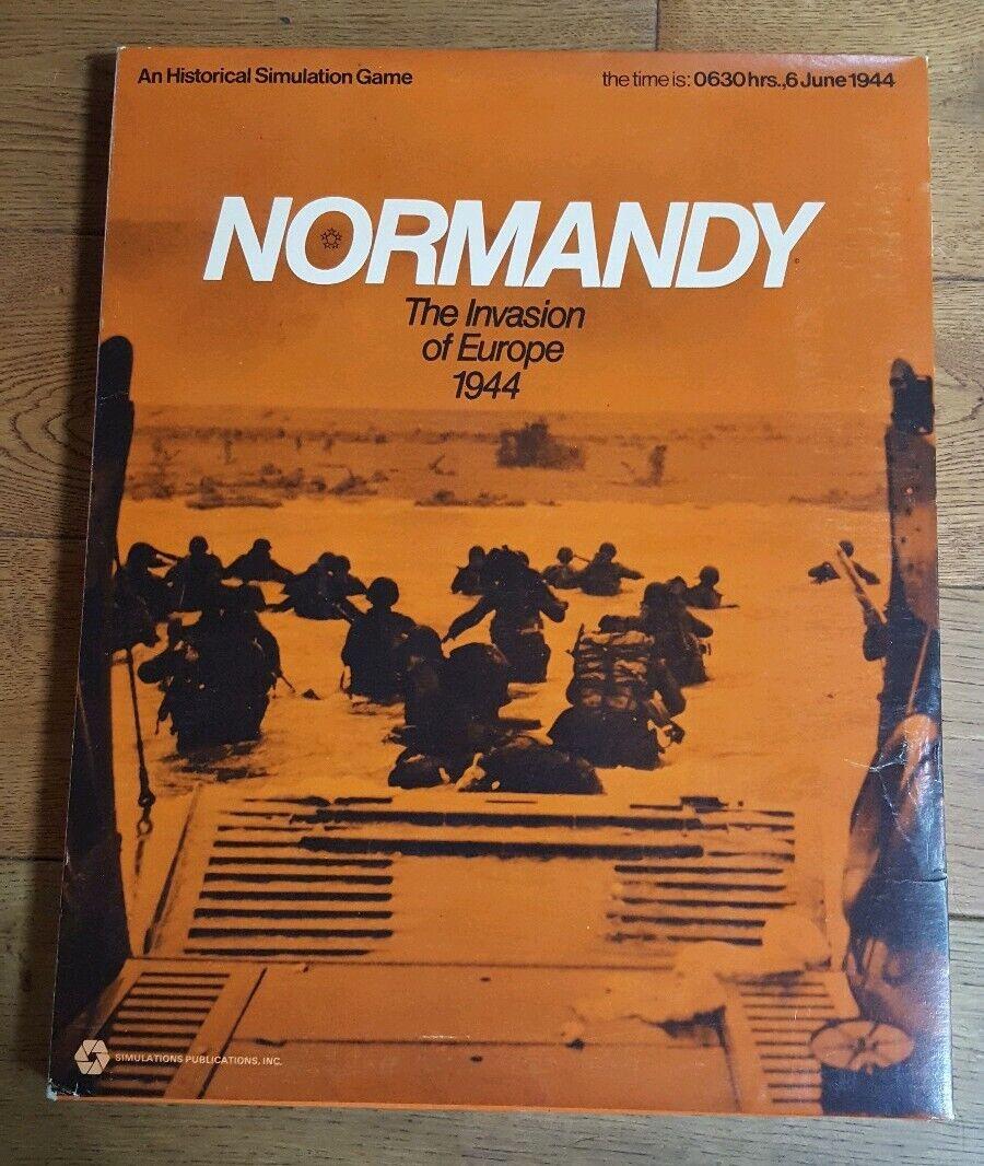 apresurado a ver Vintage 1972 juego de simulación de Normandía, invasión de Europa Europa Europa 1944, Completa   grandes ahorros