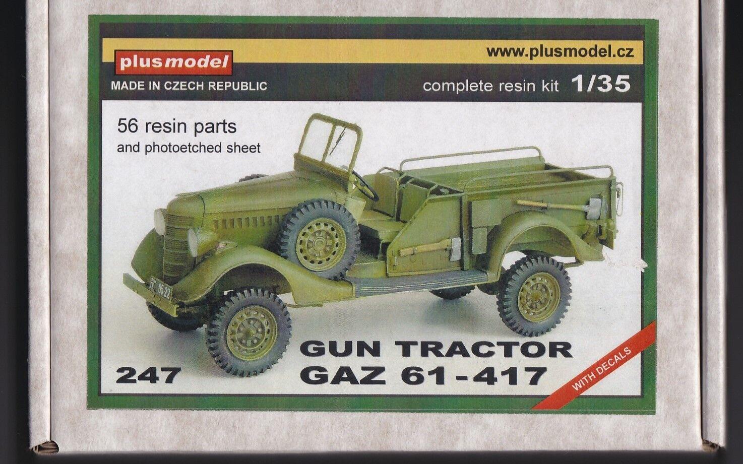 PLUSMODEL PLUS MODEL 247 - GUN TRACTOR GAZ 61-417 - 1/35 RESIN