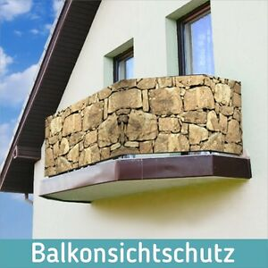 balkon sichtschutz 100x90cm windschutz plane folie banner. Black Bedroom Furniture Sets. Home Design Ideas