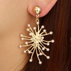 Fashion-Women-Tribal-Ethnic-Festival-Pearl-Snowflake-Dangle-Ear-Stud-Earrings