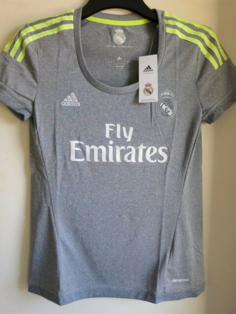 1140ffe22 ADIDAS Real Madrid Women s Girls Official Climacool Away football Jersey  Top New