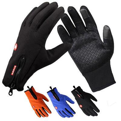 Winter Warm Wind/&Waterproof Anti-slip Thermal Touch Screen Bike Ski Gloves #Chic