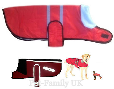 Dog wind/waterproof coat jacket clothes fleece lining Small to Extra Large dog