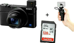 Sony-RX100-VII-appareil-photo-numerique-VCT-SGR1-Shooting-Grip-Kit-128-gbsd-Stock-au-Royaume-Uni