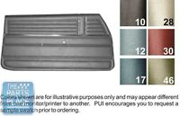 1968 Chevelle '68 Blue Pad Front Door Panels - Pui