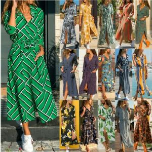 2020-Summer-Boho-Women-Long-Sleeve-Floral-Print-Dress-Beach-Holiday-Midi-Dresses