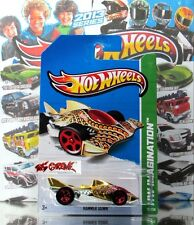 Hot Wheels 2013 #72 Hammer Down™ GOLD CHROME,RED 5SP,NEW CASTING,UNIQUE!