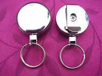 Heavy Duty Retractable Belt Clip Reel For SIA/Security Pass ID Card/Badge Holder