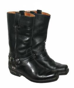 SENDRA-BOOTS-Western-Stiefel-Biker-Lederstiefel-in-schwarz-Gr-5-5-ca-38