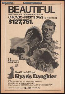 RYAN'S DAUGHTER__Original 1971 Trade AD / poster__Sarah Miles__Robert Mitchum