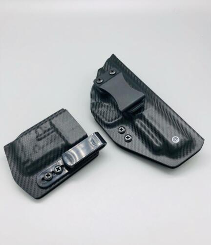 Black Fiber Carbon Kydex IWB Holster Veteran Made USA MAG POUCH FN 5.7