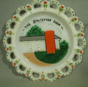 The-Stoltzfoos-Farm-Virginia-old-white-milk-glass-plate-painting-barn-flowers