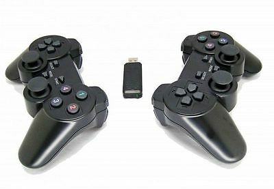 2 x 2.4G USB Wireless Dual Vibration Gamepad Controller Joystick For PC Laptop