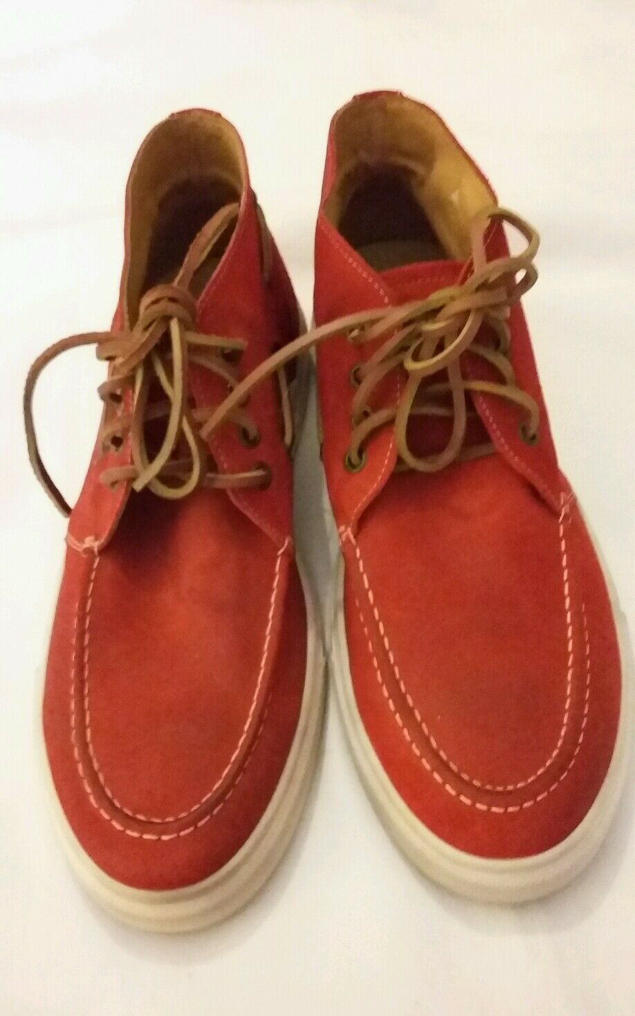Mannersache by Liebeskind rot Suede leather casual schuhe UK 9 EU 43