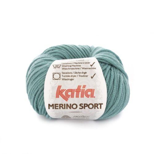 52 AZUL GRIS MERINO SPORT von Katia - 50 g // ca 80 m Wolle