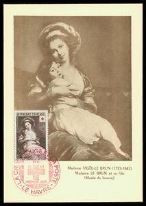 FRANCE-MK-1953-ROTES-KREUZ-RED-CROSS-ART-LOUVRE-CARTE-MAXIMUM-CARD-MC-CM-ax24