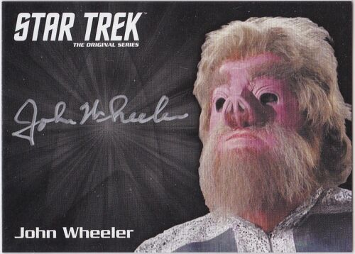 STAR TREK THE ORIGINAL SERIES 50TH ANNIVERSARY JOHN WHEELER AS GAV AUTOGRAPH